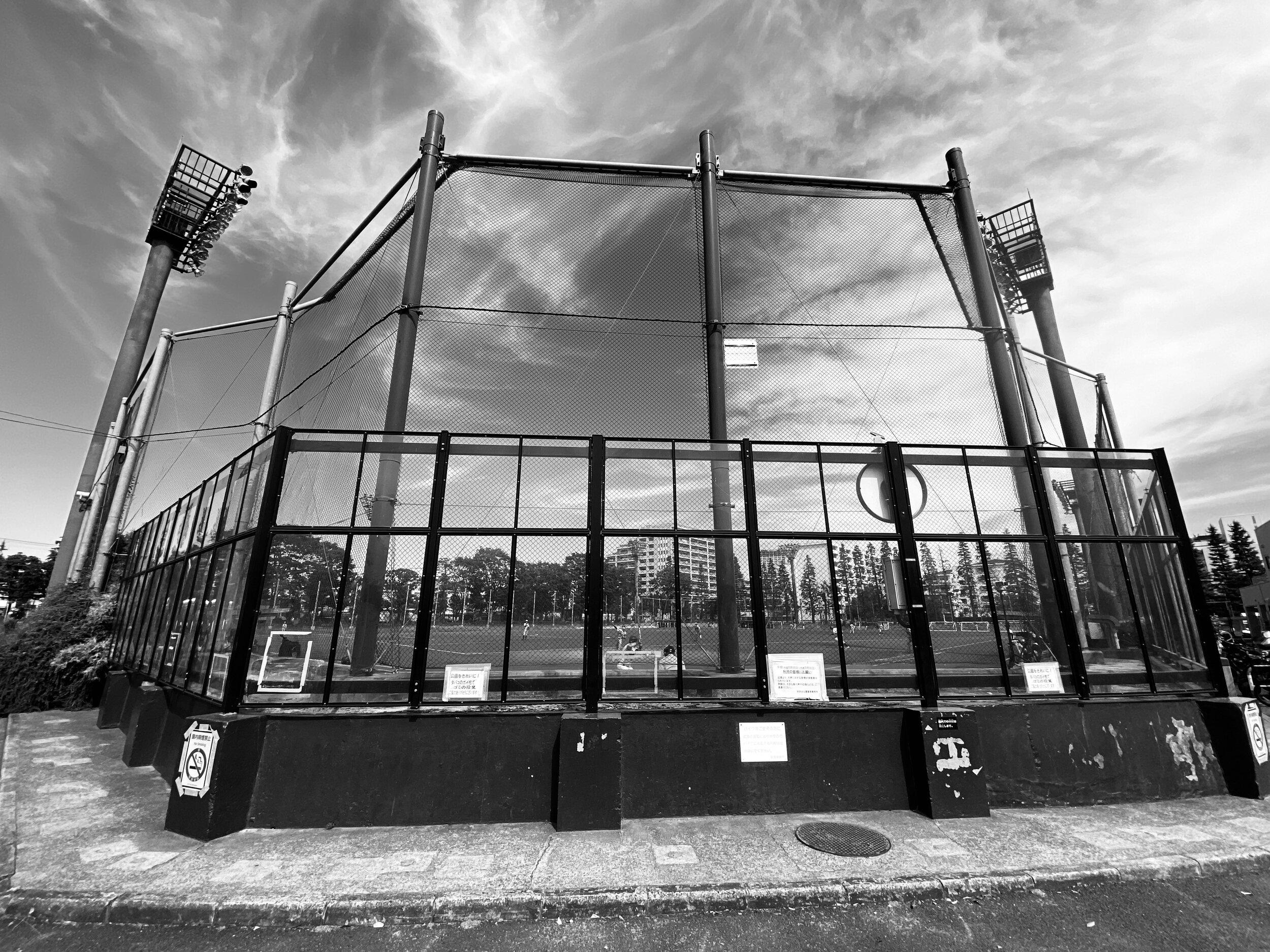 setagaya park baseball backstop
