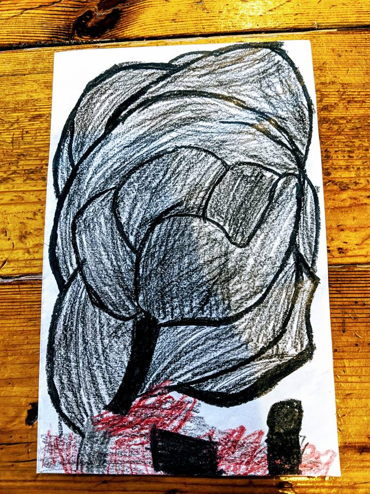 Husky Disaster - This photo was drawn by a child, age 9, who lives in Superior and experienced the April 26th explosions.