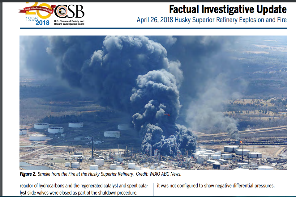 investigation into the cause of the husky explosions on april 26th - click to read report