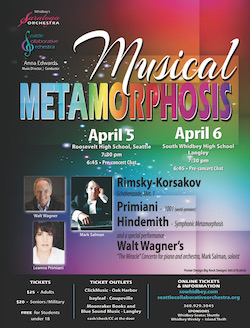 - Scheherazade (mvt 1)(1888) - Nicolai Rimsky-Korsakov1001 (2019) - Leanna Primiani(world premiere)Symphonic Metamorphosis (1943) - Paul Hindemith