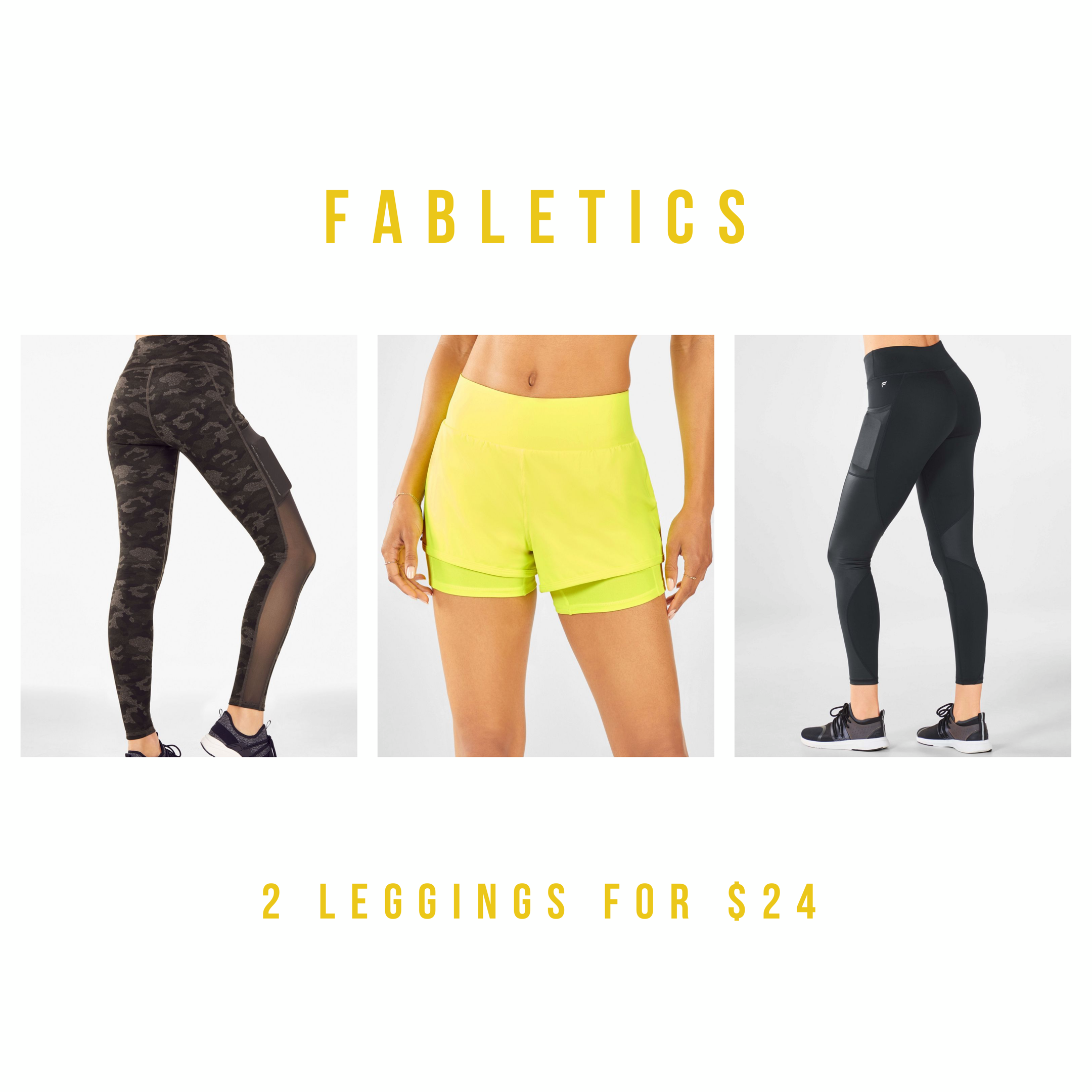 Click here to get two pairs of Fabletics leggings for $24.