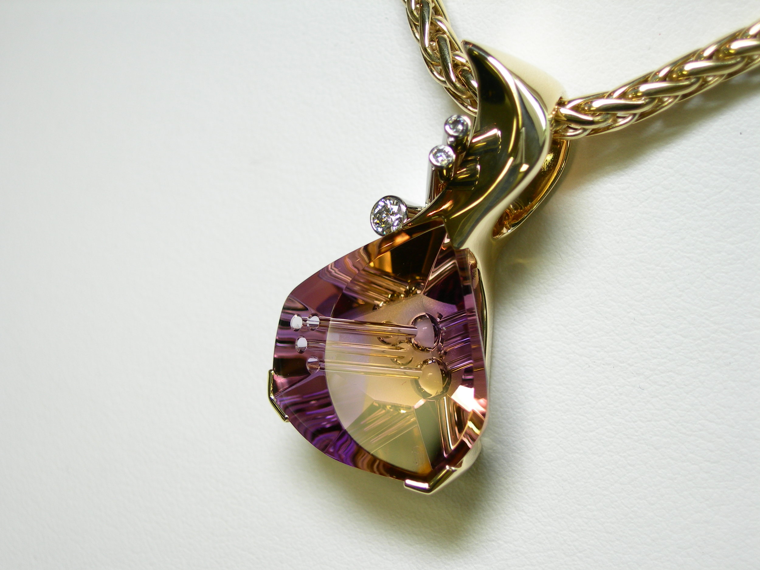 Award winning pendant, Iowa Jeweler's Association 1999, First Place, and Best of Show. One of 32 top entrants in the country at the 2000 Jewelers of America show in New York.