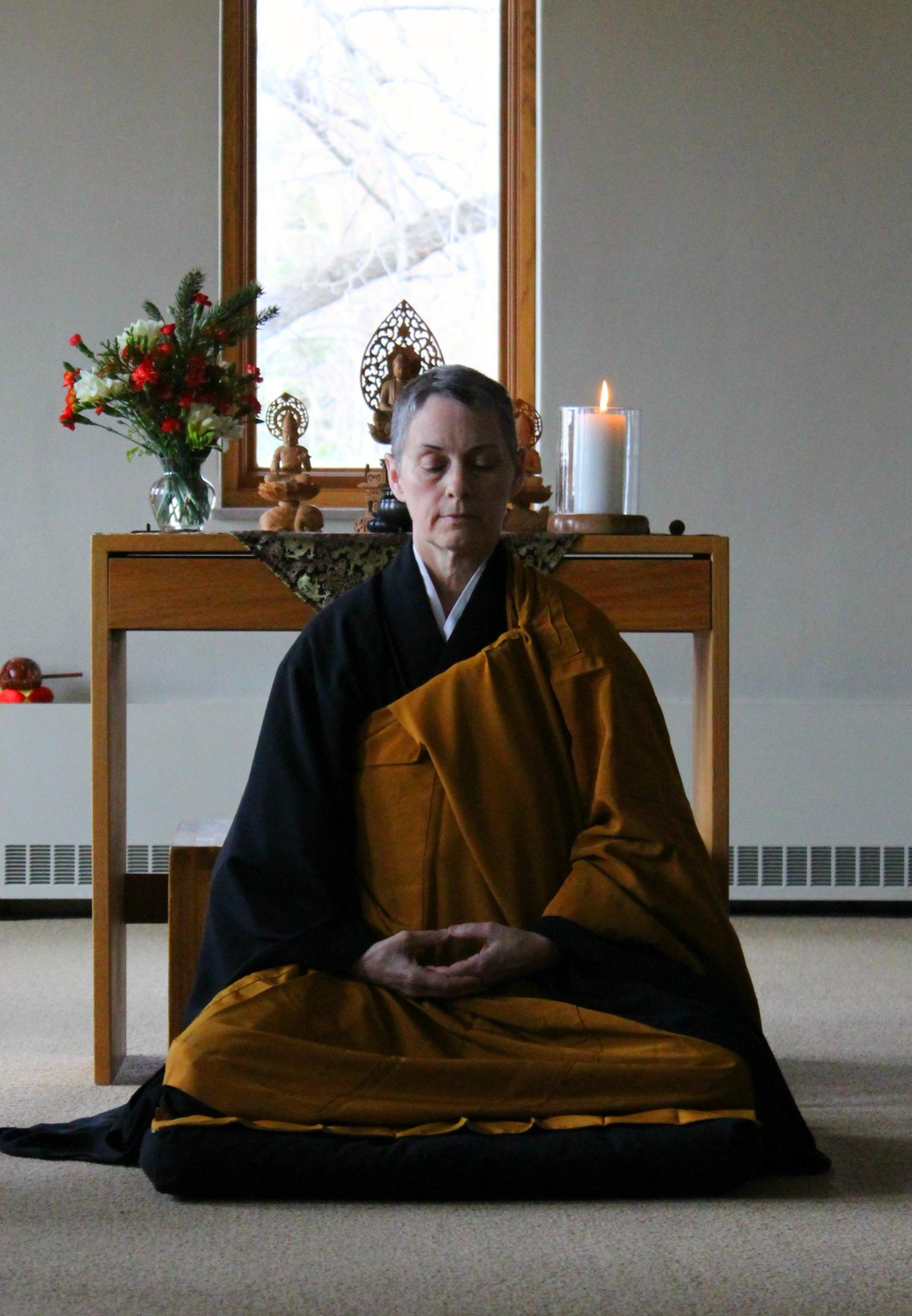 My beautiful friend and meditation teacher,  Karen Maezen Miller