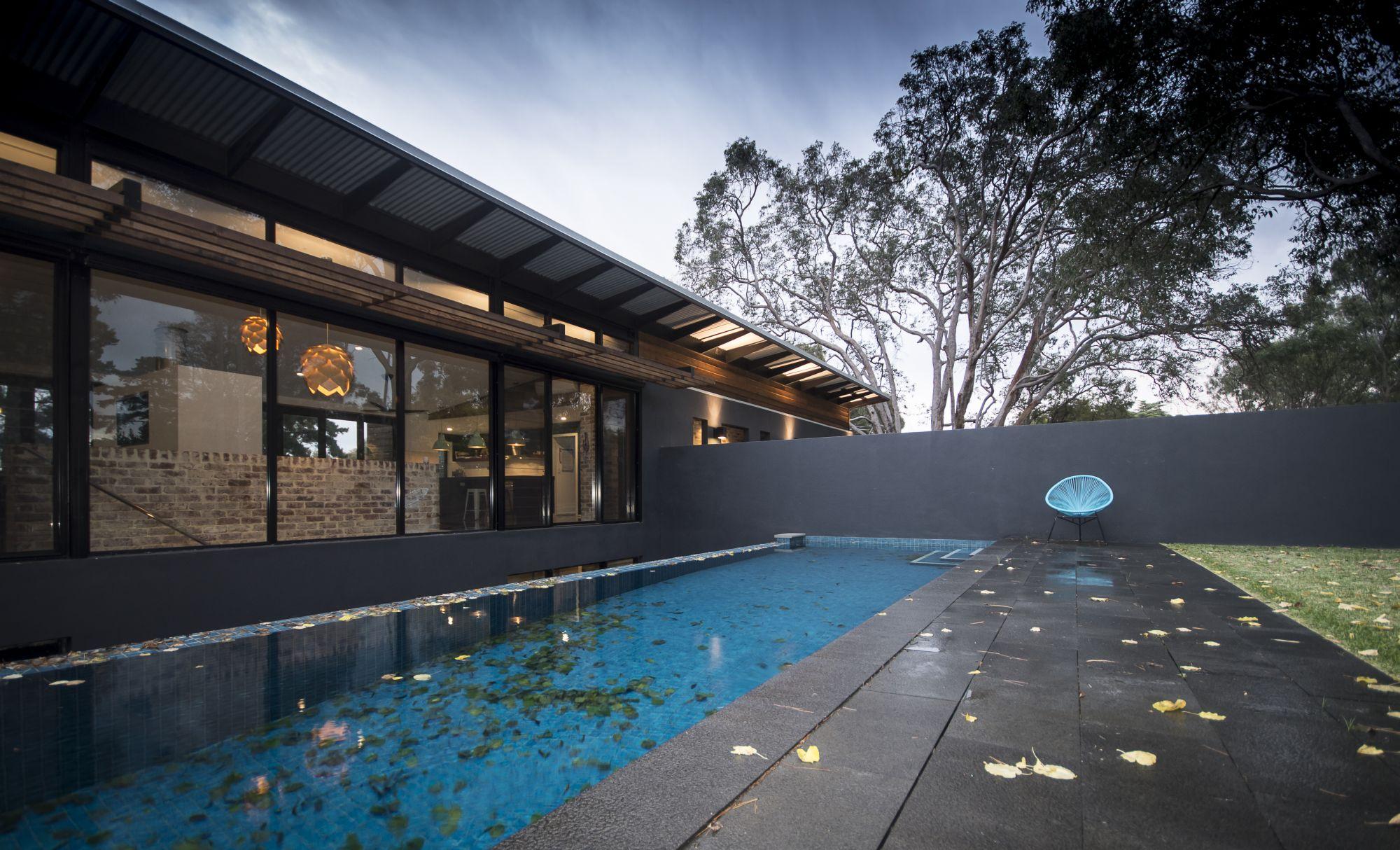 Lap pool with infinity edge