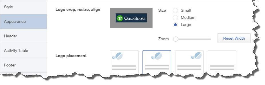 Your logo is an important element of your company's brand. QuickBooks Online lets you include it on sales forms.