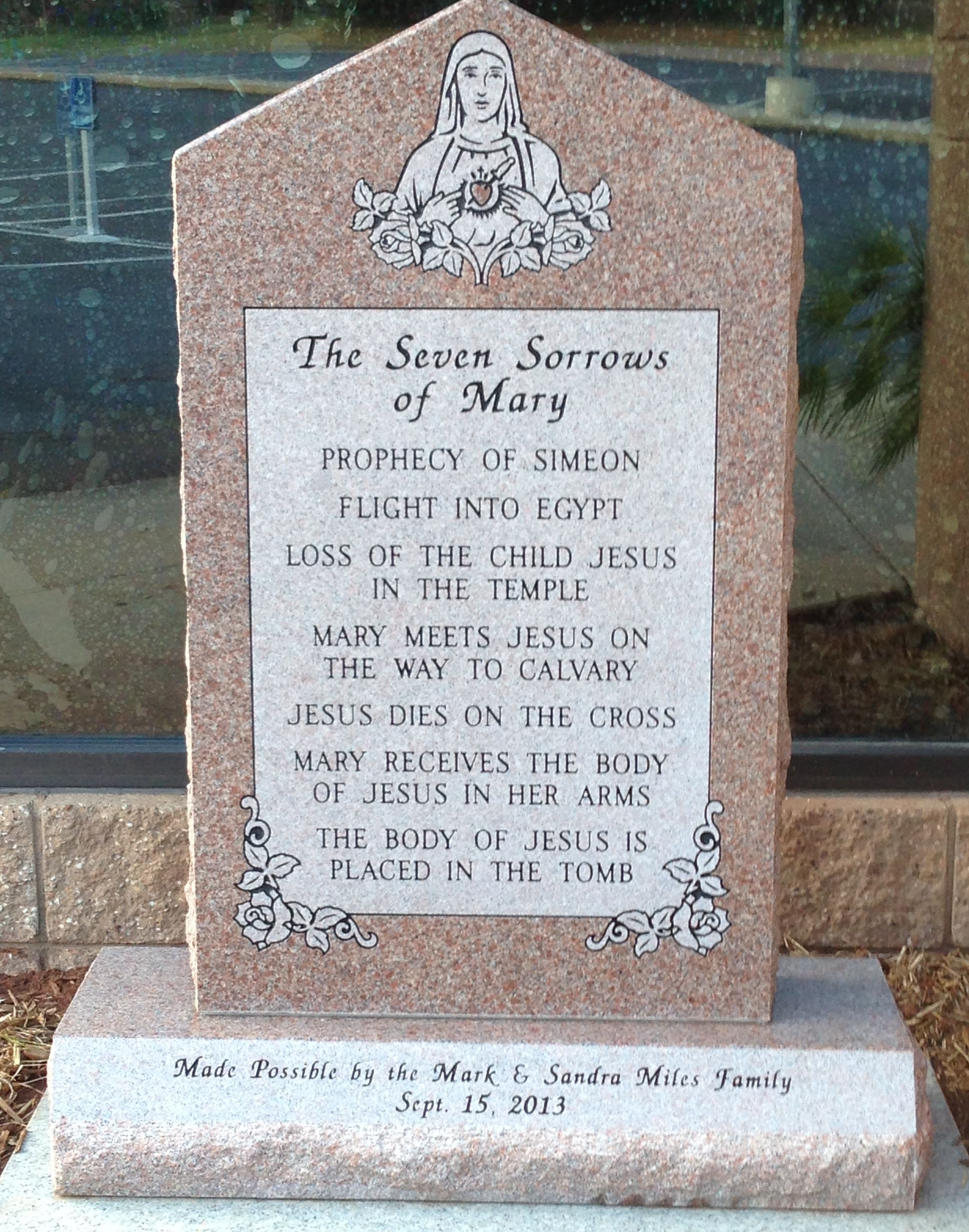 Seven Sorrows of Mary, Our Lady of Sorrows Catholic Church, Chandler, OK