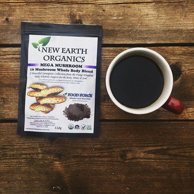 Thee best way to start the day 👌🏼Try adding a tsp of New Earth Organics Mega Mushroom blend to your cup of coffee with a touch of honey and almond milk 🤗! Not only is it delicious it will support sustained energy, boost immunity, improve cognitive function and so much more! 🍄 #findbalance with @newearthorganics #mushroom #coffee #☕️