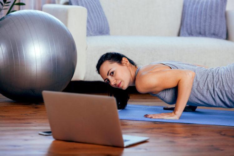 online fitness training -