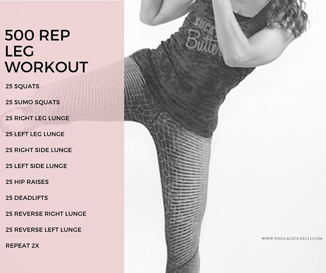 Are you ready for a quick workout today?  Try this as it's ONE of my favs!  Repeat twice to get tour 500 reps in!