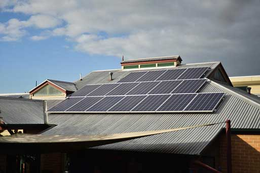 15kW solar system on the roof of Clifton Street -