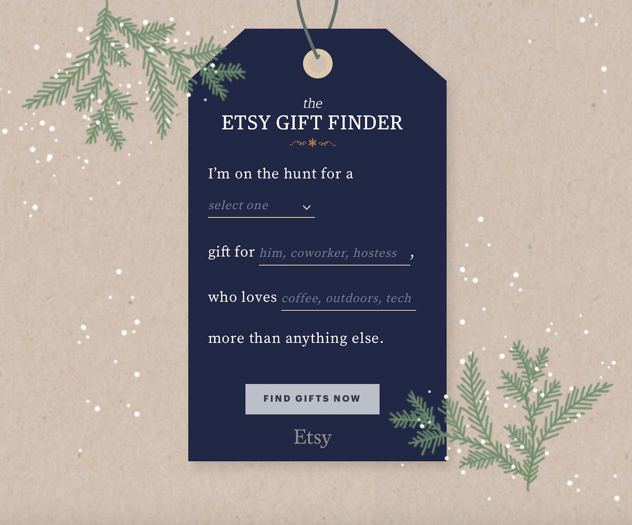 Etsy Gift Finder