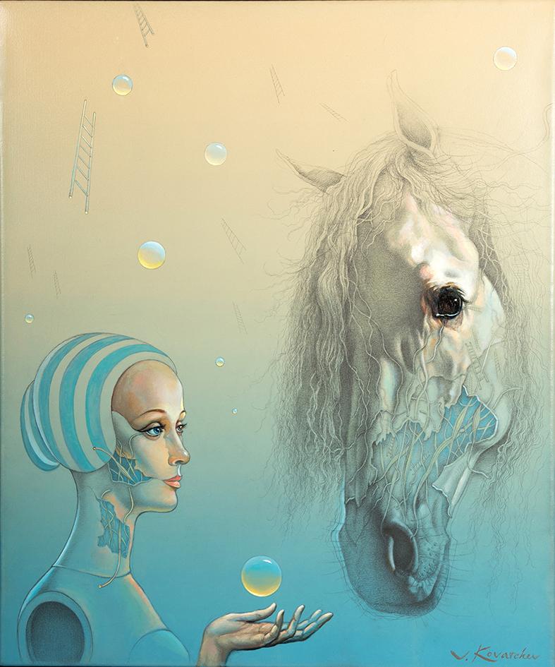 Dama del caballo III. 55 x 46 cm. V.Kovatchev..jpg