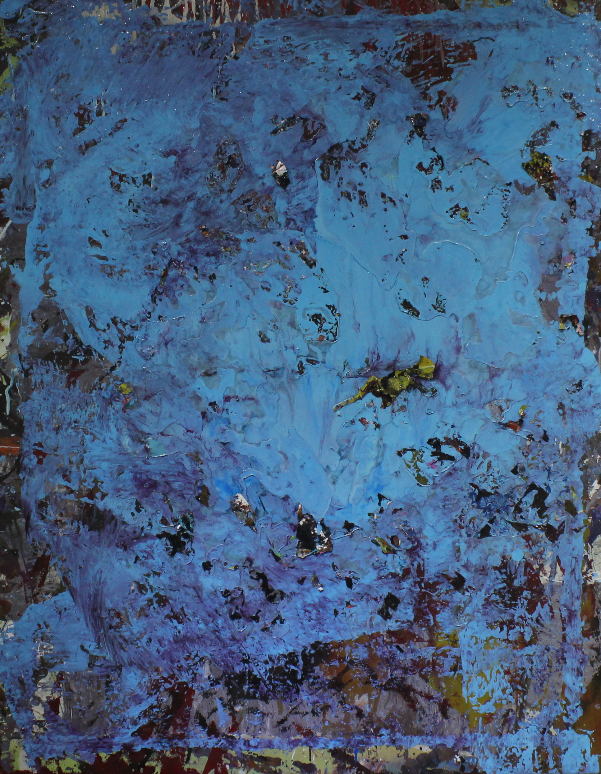Untitled, 2013, enamel paint on canvas, 122 x 91 cm