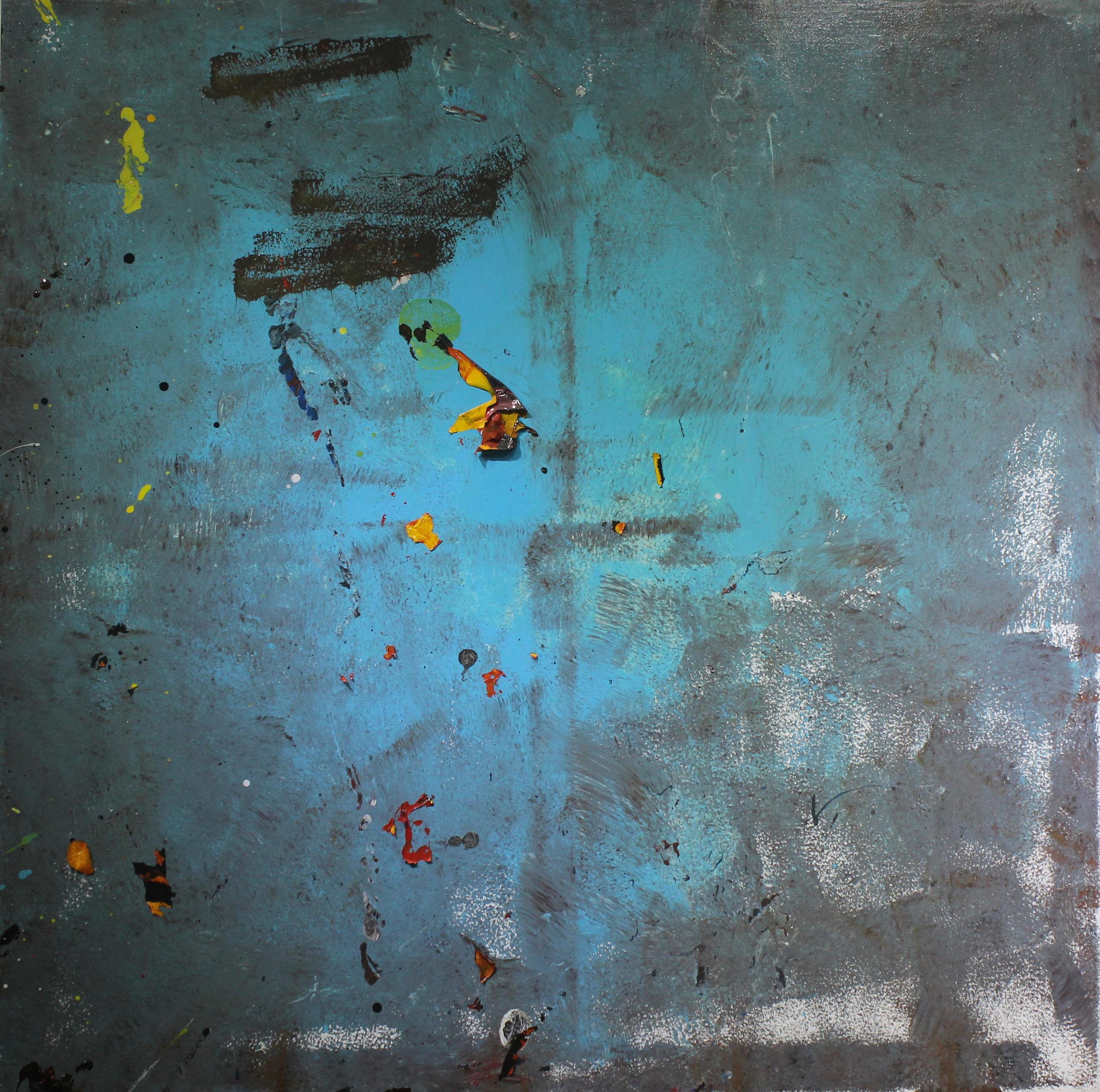 Untitled, 2013, enamel paint on canvas, 122 x 122 cm