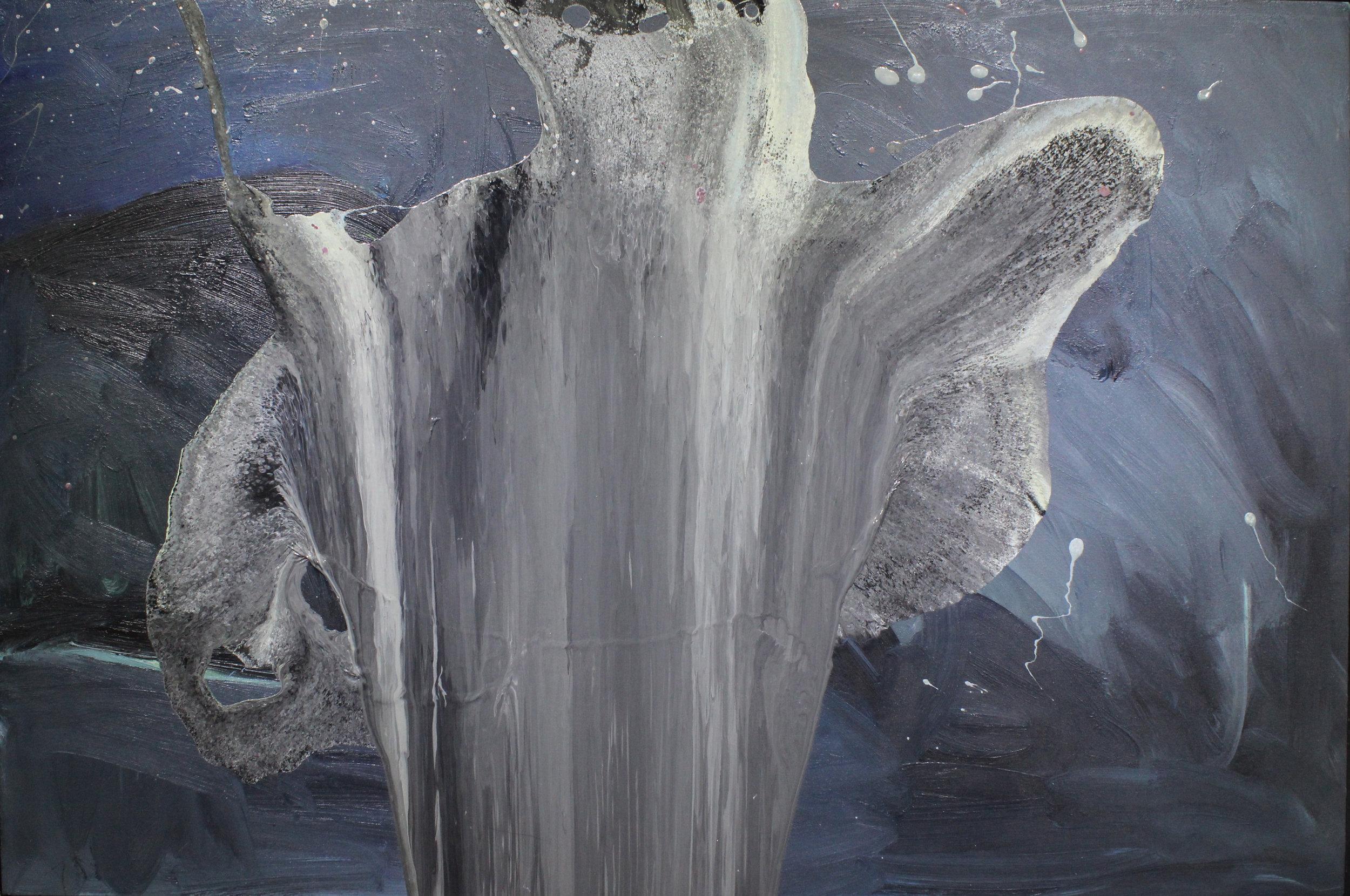 Untitled, 2013, enamel paint on canvas, 61 x 91 cm