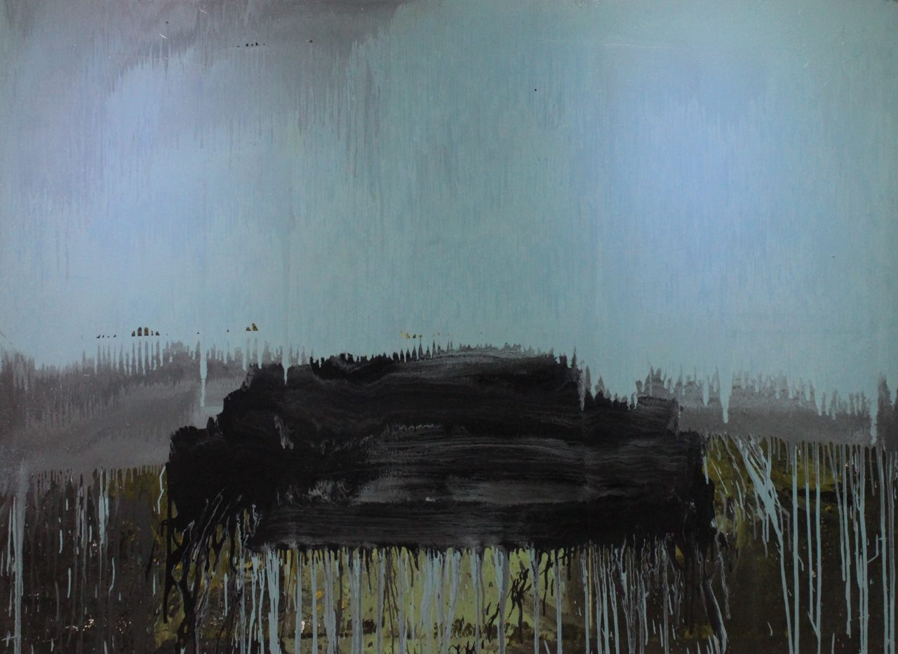 Untitled, 2014, enamel paint on canvas, 168 x 229 cm