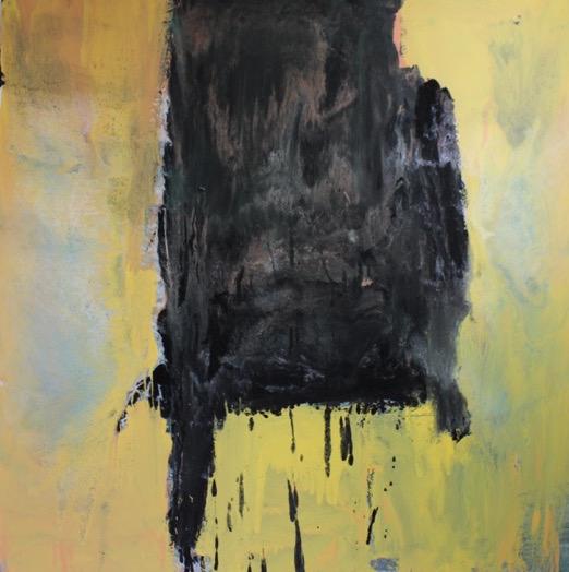 Untitled, 2014, enamel paint on canvas, 122 x 122 cm