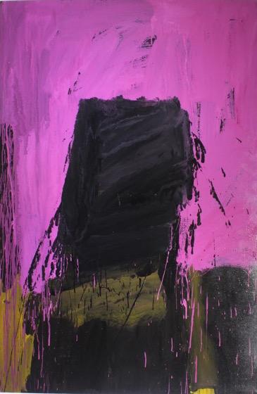 Untitled, 2014, enamel paint on canvas, 122 x 152 cm