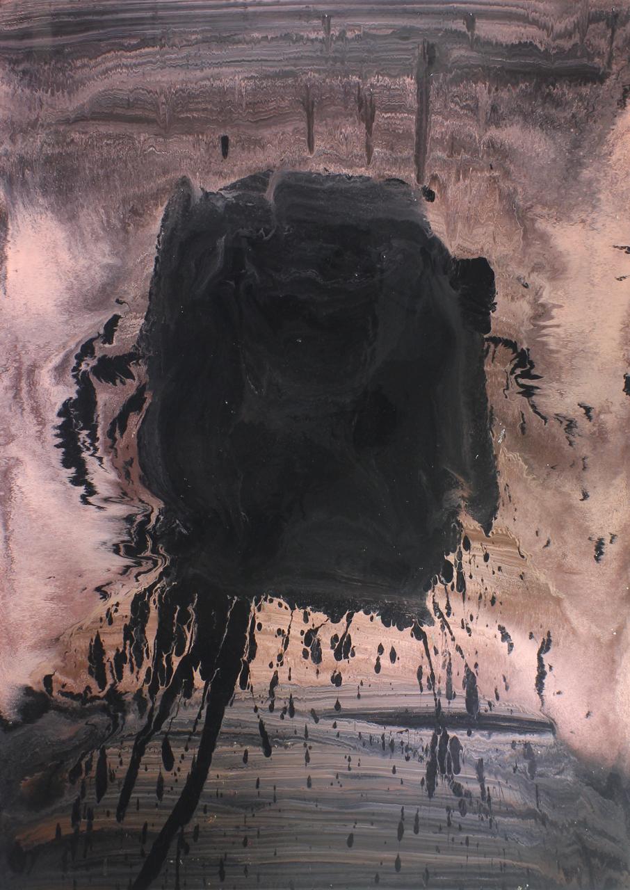Untitled, 2014, enamel paint on canvas, 137 x 152 cm