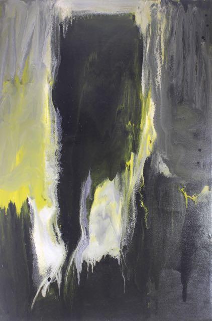 Untitled, 2014, enamel paint on canvas, 122 x 189 cm