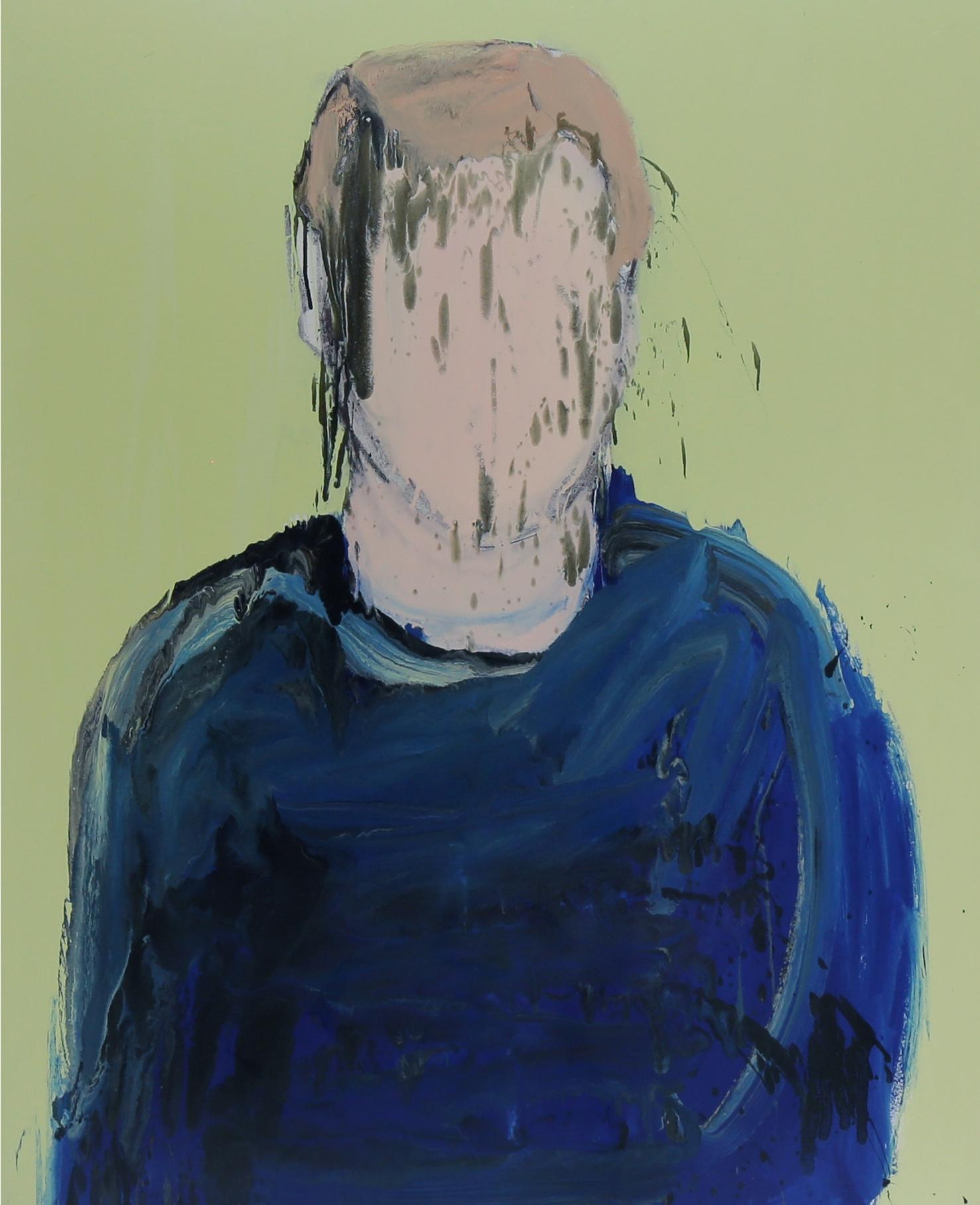 Rabi, 2016, enamel paint on canvas, 137 x 107 cm