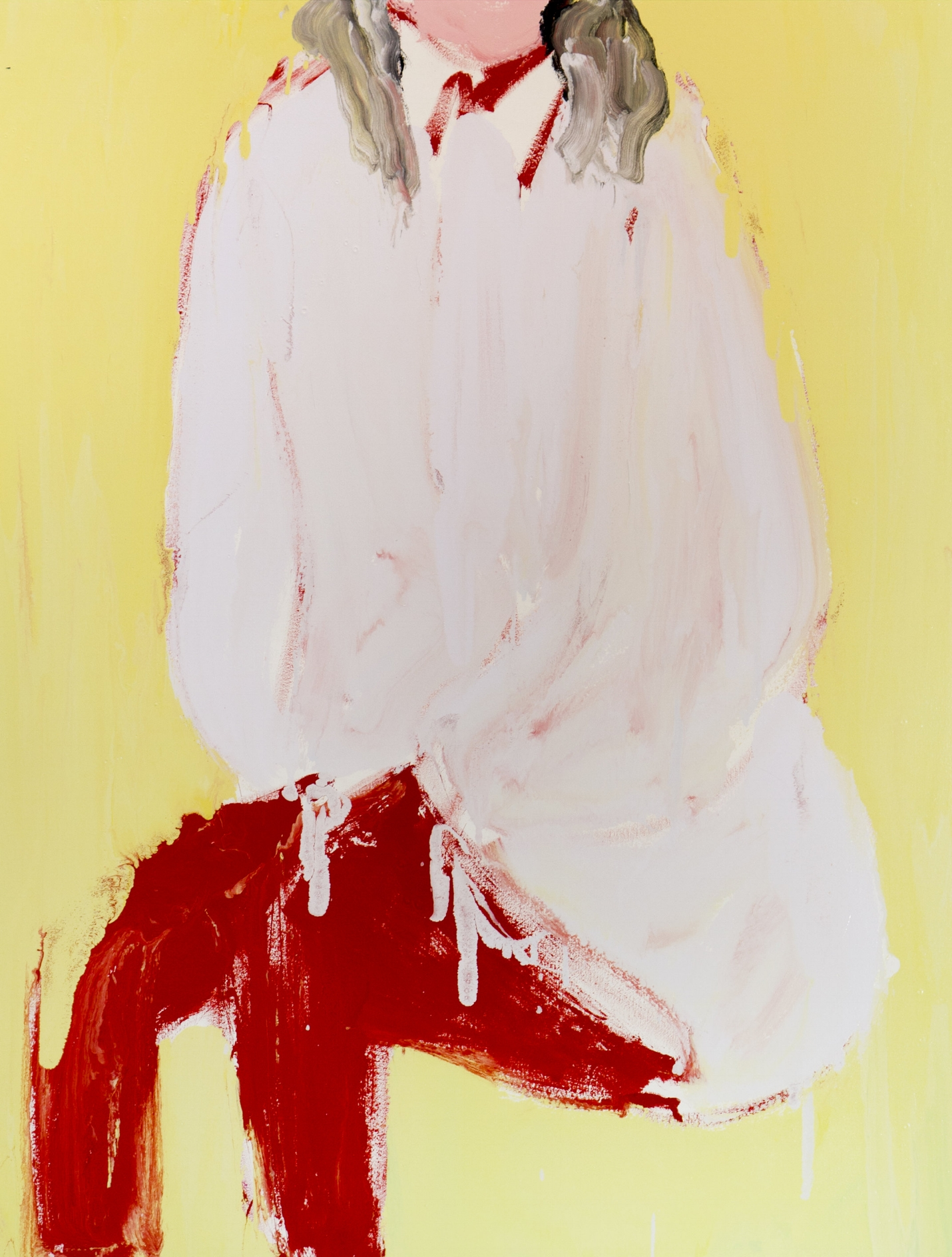 The Headless Unicorn, 2017, enamel paint on canvas, 137 x 107 cm