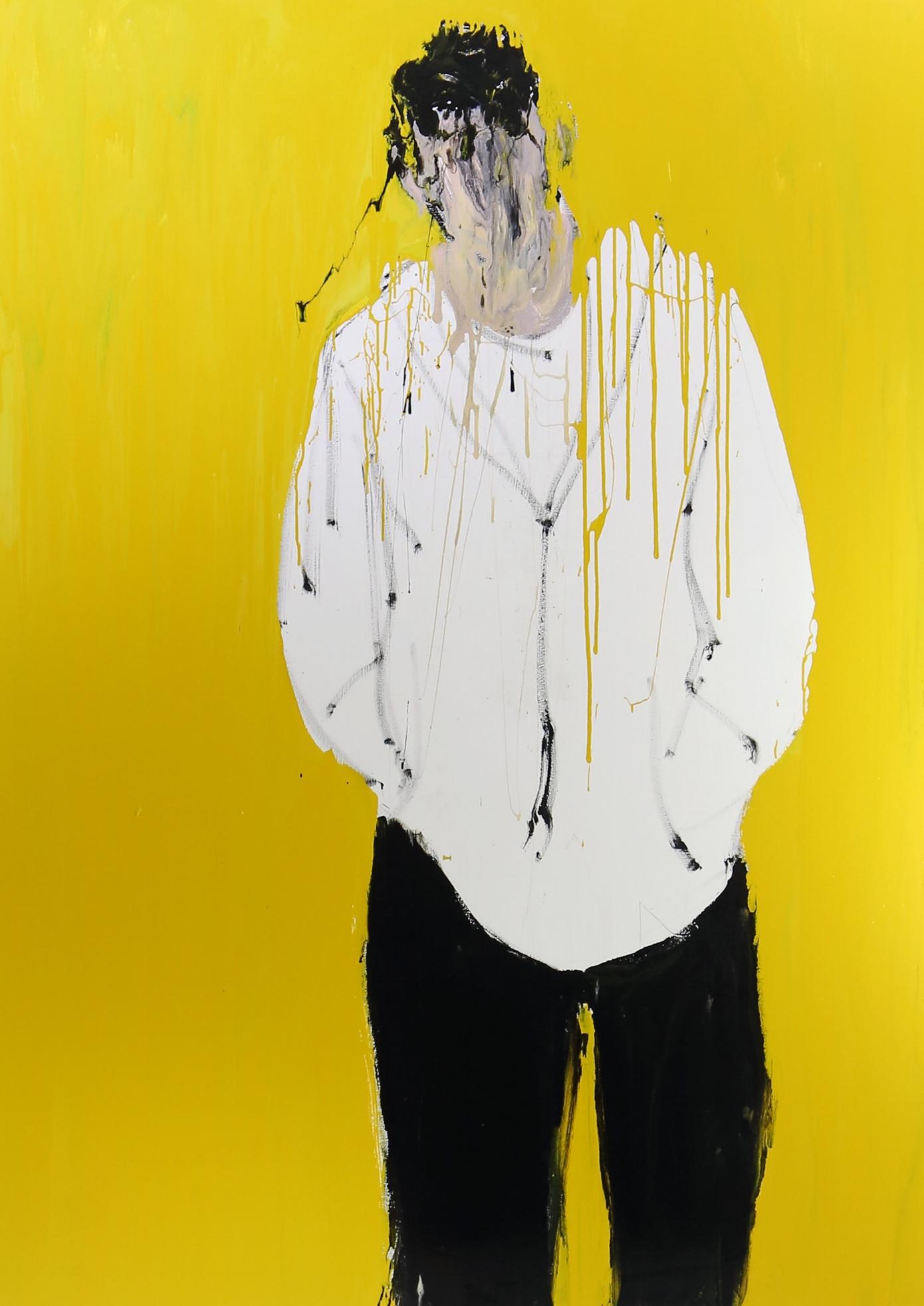 Muneeb, 2016, enamel paint on canvas, 243 x 168 cm