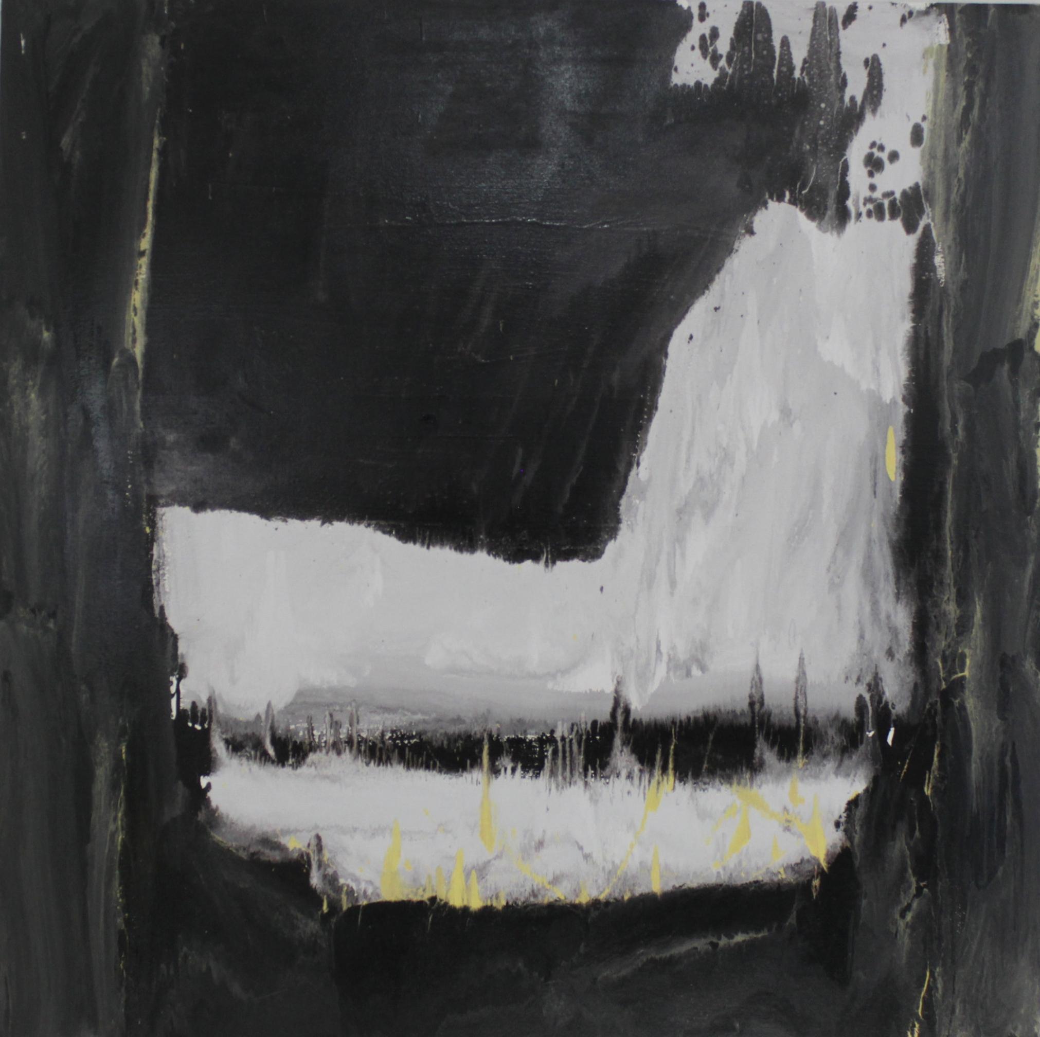 Untitled, 2016, enamel paint on canvas, 152 x 152 cm