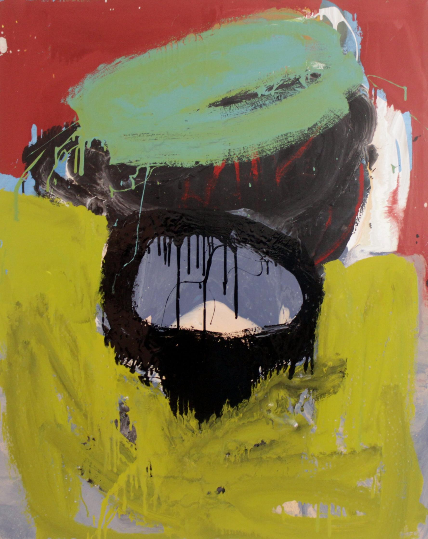 Untitled, 2016, enamel paint on canvas, 91 x 122 cm