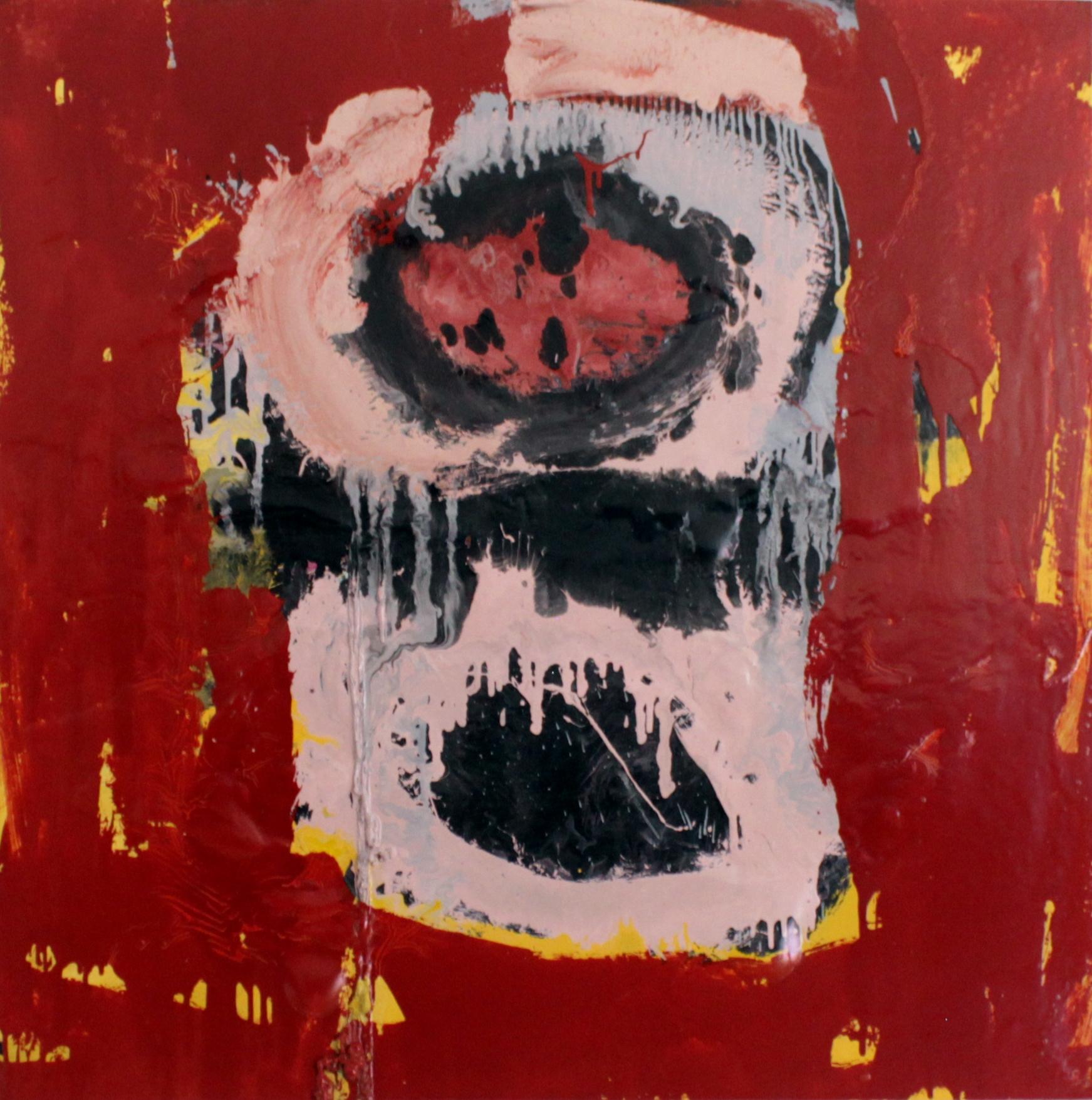 Untitled, 2016, enamel paint on canvas, 122 x 122 cm