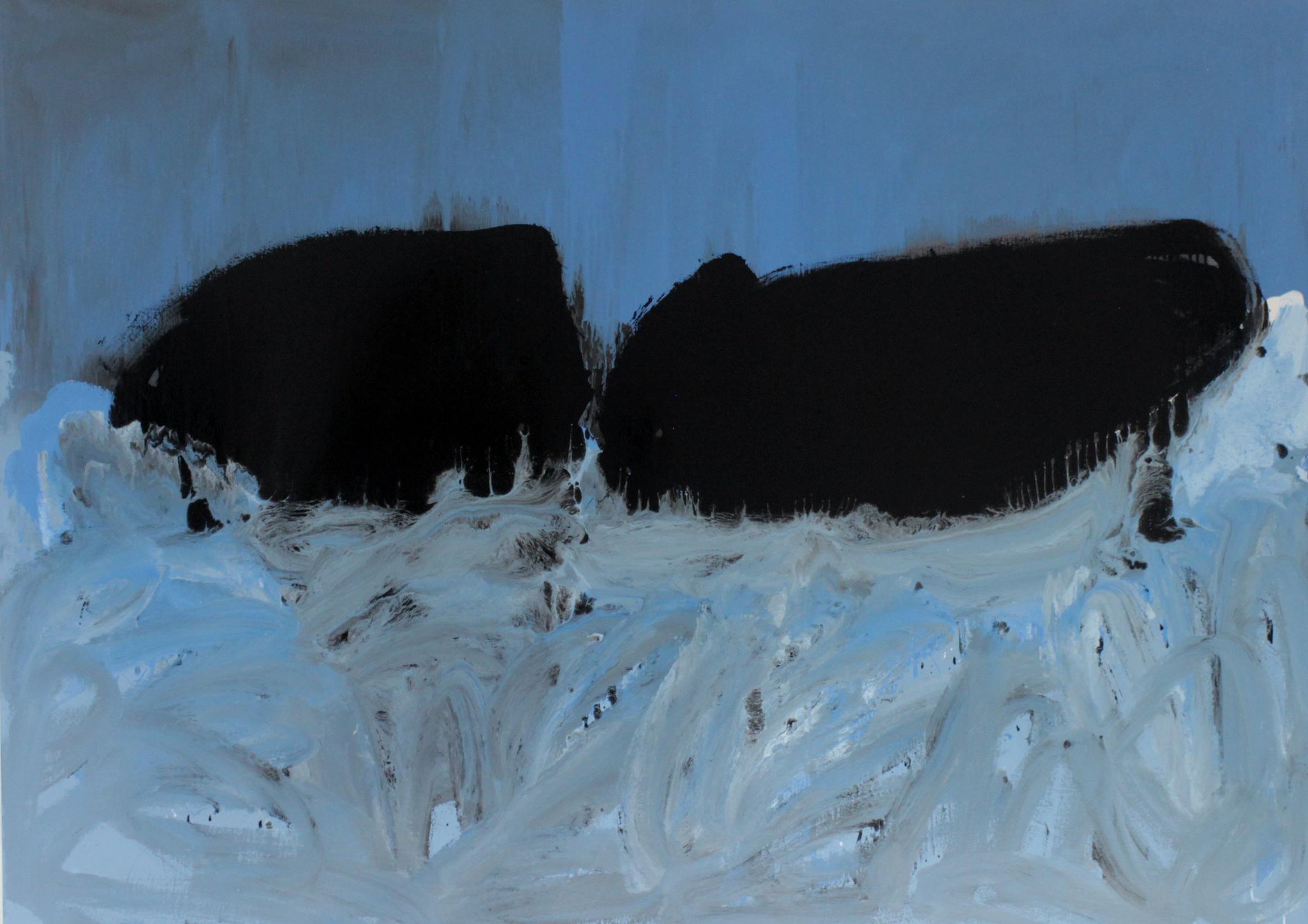 Untitled, 2016, enamel paint on canvas, 168 x 229 cm