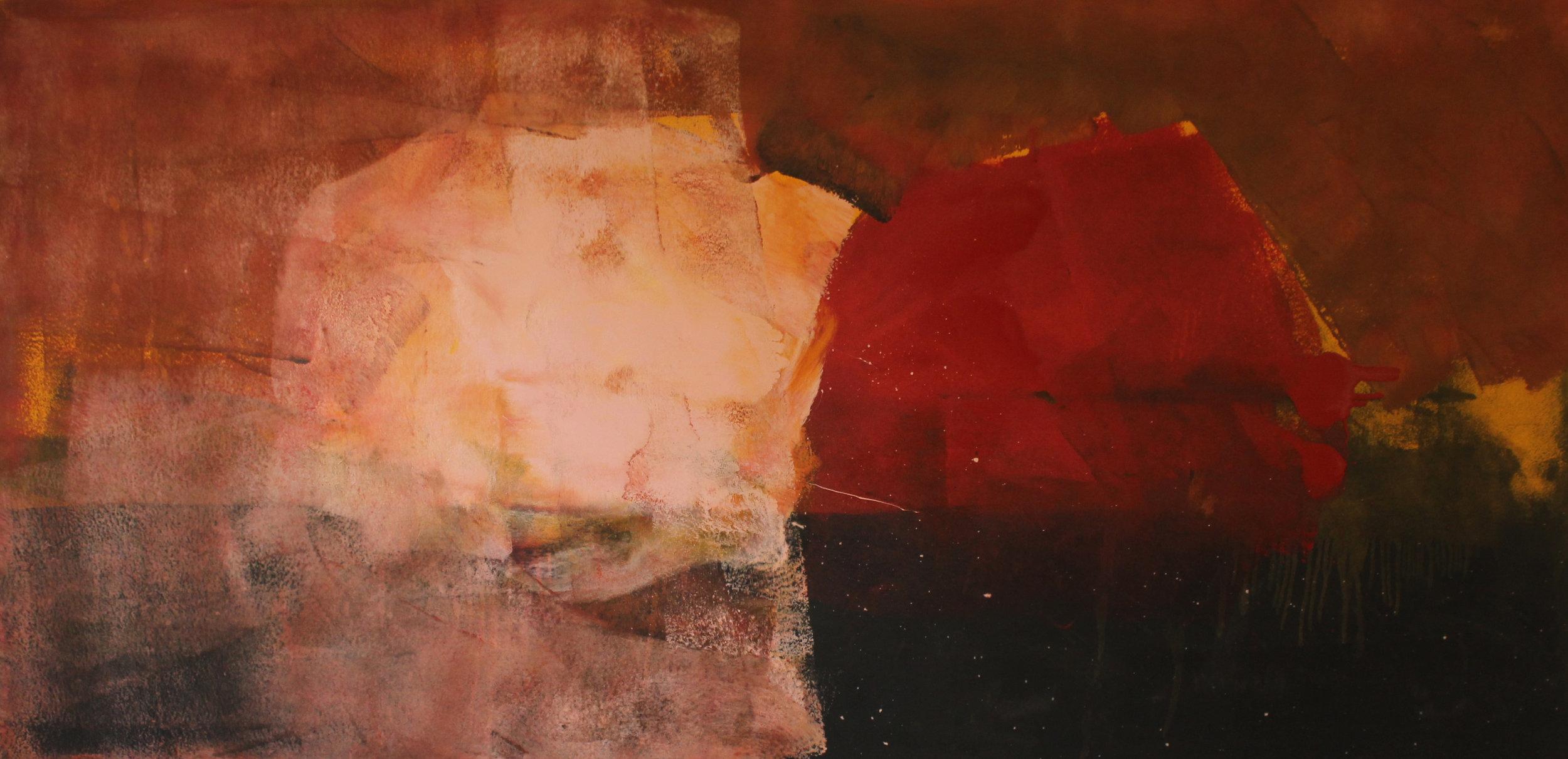 Untitled, 2014, enamel paint on canvas, 122 x 244 cm