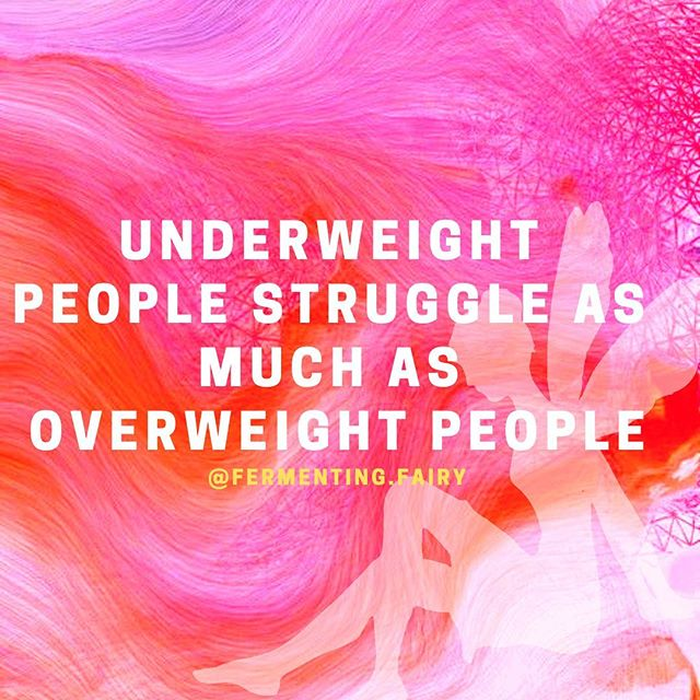 "There are a smaller percentage of underweight people than overweight, but believe it or not, they get the same rude treatment from others that overweight people receive. . When you see someone who is thin, I mean bone thin, people assume she/he has an eating disorder and that it's intentional. . The truth is that many people (excluding the ones who have a true eating disorder) who are underweight would LOVE to put on weight but it's a struggle. They may have some serious underlying gut issue that prevents them from gaining weight. Or they may just naturally be very thin (please don't ever say skinny). . I've been there plenty in my life. I'll tell you first hand that I was met with rude comments daily from people who didn't know me well and complete strangers. People assumed I  was emaciated on purpose. So they would say things like ""You look terrible. Gain some weight. Go eat a burger. I can see right through you."" . I meet people everyday who receive rudeness because of being bone thin. When I talk to these people, they are not only struggling with being underweight but are hurting from the comments they receive daily. . When you see someone who struggles with their weight, be it overweight or underweight, watch how quickly you judge them and assume you know what is happening in their life. You don't. None of us really ever know what is happening in another's person's world. . Please treat these people with kindness. All people with kindness."