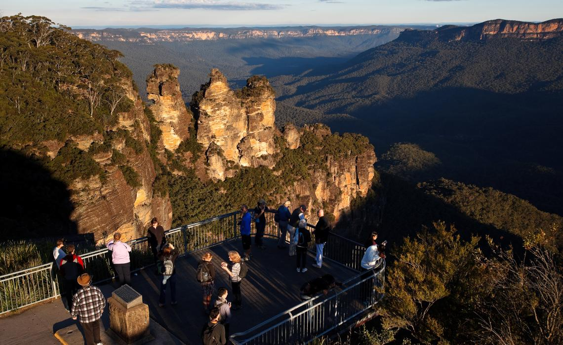 The Three Sisters Katoomba from  Visit NSW