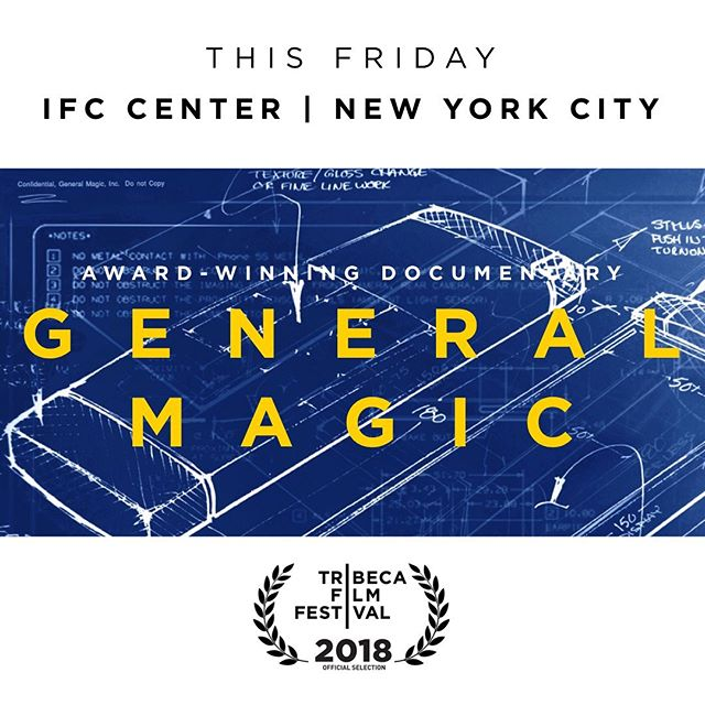 This Friday General Magic returns to the Big Apple at the @ifccenter  For ticket information either visit our website or @ifc . . . #generalmagicthemovie #generalmagic #film #nyc #newyork #startup #smartphone #apple #awardwinning
