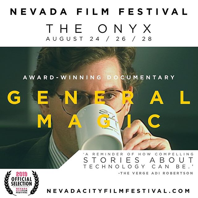 Nevada, it's your turn to experience some magic 📲✨ • General Magic will be screening at this years @ncfilmfest on August 24th, 26th & 28th at The Onyx. Tickets are on sale now! . . . #generalmagicthemovie #generalmagic #filmfestival #nevada #nevadacity #femaledirector #technews #stevejobs #apple
