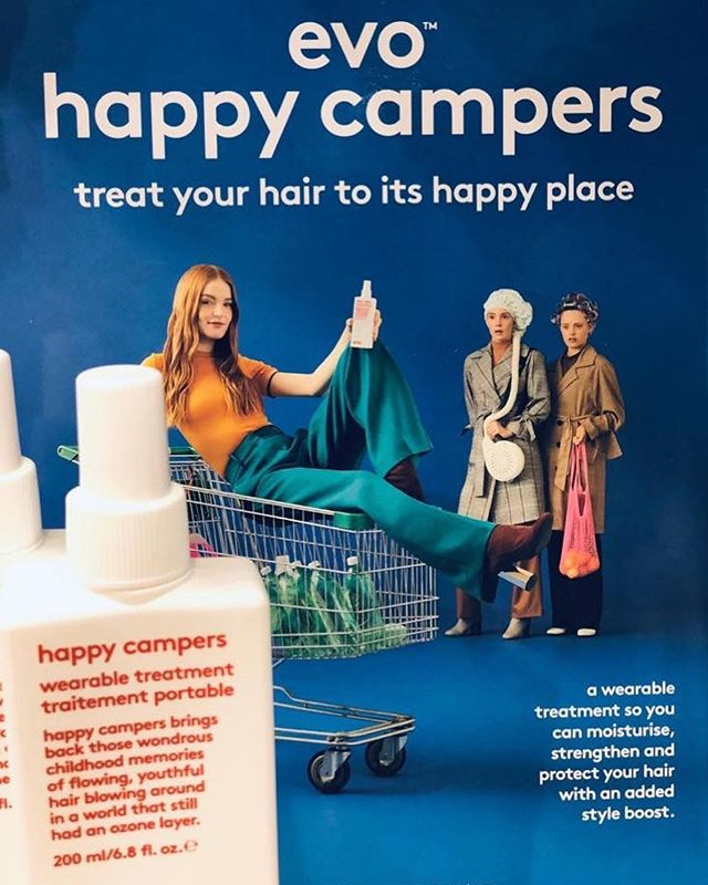Evo happy campers. 🏕  Concept.  A lightweight, daily styling treatment that moisturises, strengthens and protects, while adding style support.  Benefits.  Dual delivery as a spray or a cream for a more concentrated effect. Adds moisture, reduces frizz and helps provide protection from uv and heat damage. Improves styling and reduces blow-drying time while providing slight volume and hold.  Apply to damp hair. Apply as a cream by spraying into hands first, for a more concentrated effect. Apply to towel-dried hair and air-dry or blow-dry for added style support.  This stuff is magic in a bottle & we loveeee it here at Puro.😍 We are also the only salon in Petersfield to use and supply Evo Hair Products , so come and grab a bottle and treat your hair to its happy place. 🌈 @evohair