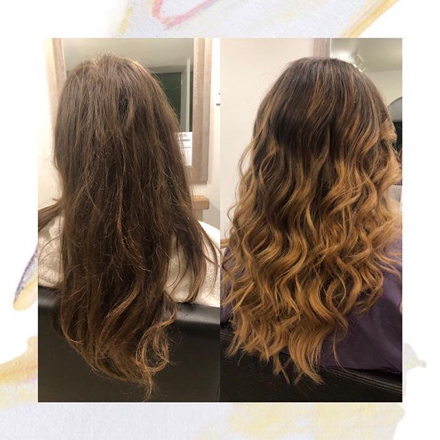 Looking to lighten up your hair? Balayage is the perfect natural technique to give your hair some extra added brightness without having the full commitment of being a blonde!  Perfect for this summer weather☀️ Beautiful balayage done by apprentice Chloe.