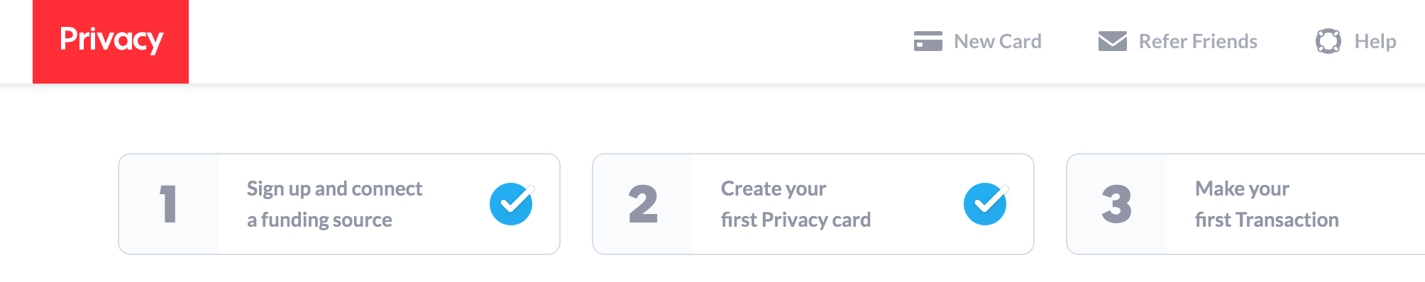 Privacy.com tutorial displayed in one photo.