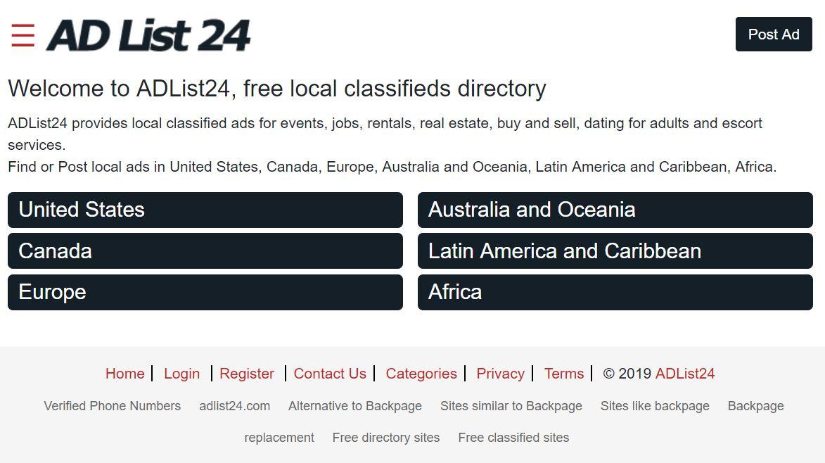 AdList24 worldwide classifieds