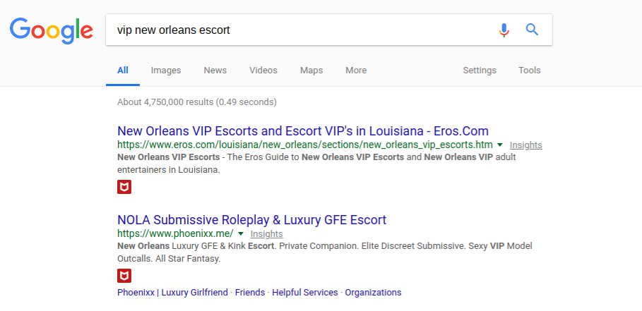 I still personally use the word 'escort' as one of my keywords…