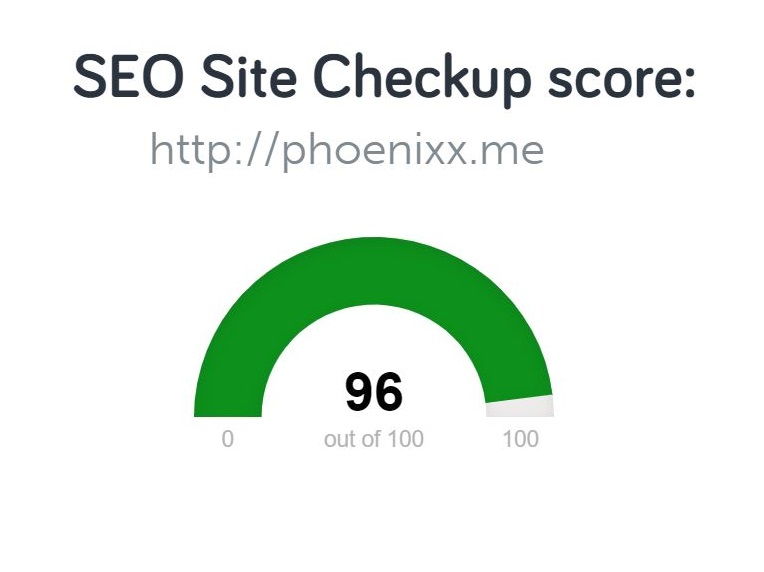 Get your SEO rating:     SEO Site Checkup