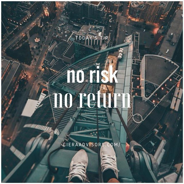 The biggest risk is not taking any risk. In a world that is changing really quickly, the only strategy guaranteed to fail is not taking any risks.  Higher the risk, higher the return. If you win, you will be happy. If you lose, you will be wiser. Taking risks doesn't mean you forget to what extent, it just means to know up to what extent are you willing to lose.  ________________________⠀  Follow @cieraadvisors for daily business tactics and advice!⠀ www.cieraadvisors.com⠀ _________________________⠀ _________________________⠀ .⠀ .⠀ .⠀ .  #CieraAdvisors #investmentbanking #venturecapital #corporatefinance #startups #higherrisk #strategy #higherreturn