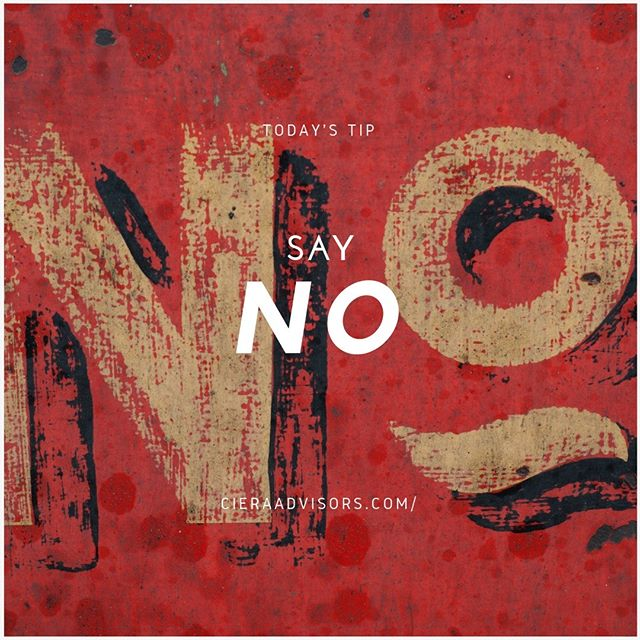 Last year, we had released a post on saying no. Here's an update to that. Specifically on when to say no to funding and when to say no to money.  Investments are like romantic relationships. They can help you when things get tough or put you in an even tougher position. An investor who doesn't share your vision and dream for your company will become an obstacle to your progress and a major source of frustration. Short term influx of cash is often tempting, however making sure that the investor's temperament aligns with you is even more important for your business in the long run. At the same time, even If your vision aligns, what might occasionally happen is that you raise too much money. Over-promise and under-deliver. Understanding that every single cent that you take from your investor has to be accounted for and backed by results will keep you from getting greedy as too much of anything can also lead to disaster.  Another scenario is when you might have to say no to a customer. There is a 80/20 rule called the Pareto principle, which states that 80% of your output/results/sales comes from 20% of the sales and this is true even in your business. However, it is also important to understand the compounding and negative effects of this Pareto principle, which is that 4% of your customers (20% of 20%) consume 64% (80% of 80%) of your time and energy. It's understandable that not everyone can afford to let go of customers, which is why it is important to diversify your customer base and have the power and freedom to choose your customers when you can afford it.  ________________________⠀  Follow @cieraadvisors for daily business tactics and advice!⠀ www.cieraadvisors.com⠀ _________________________⠀ _________________________⠀ .⠀ .⠀ .⠀ .  #CieraAdvisors #investmentbanking #venturecapital #corporatefinance #startups #business #SAYNO #vision #dream #Paretoprinciple