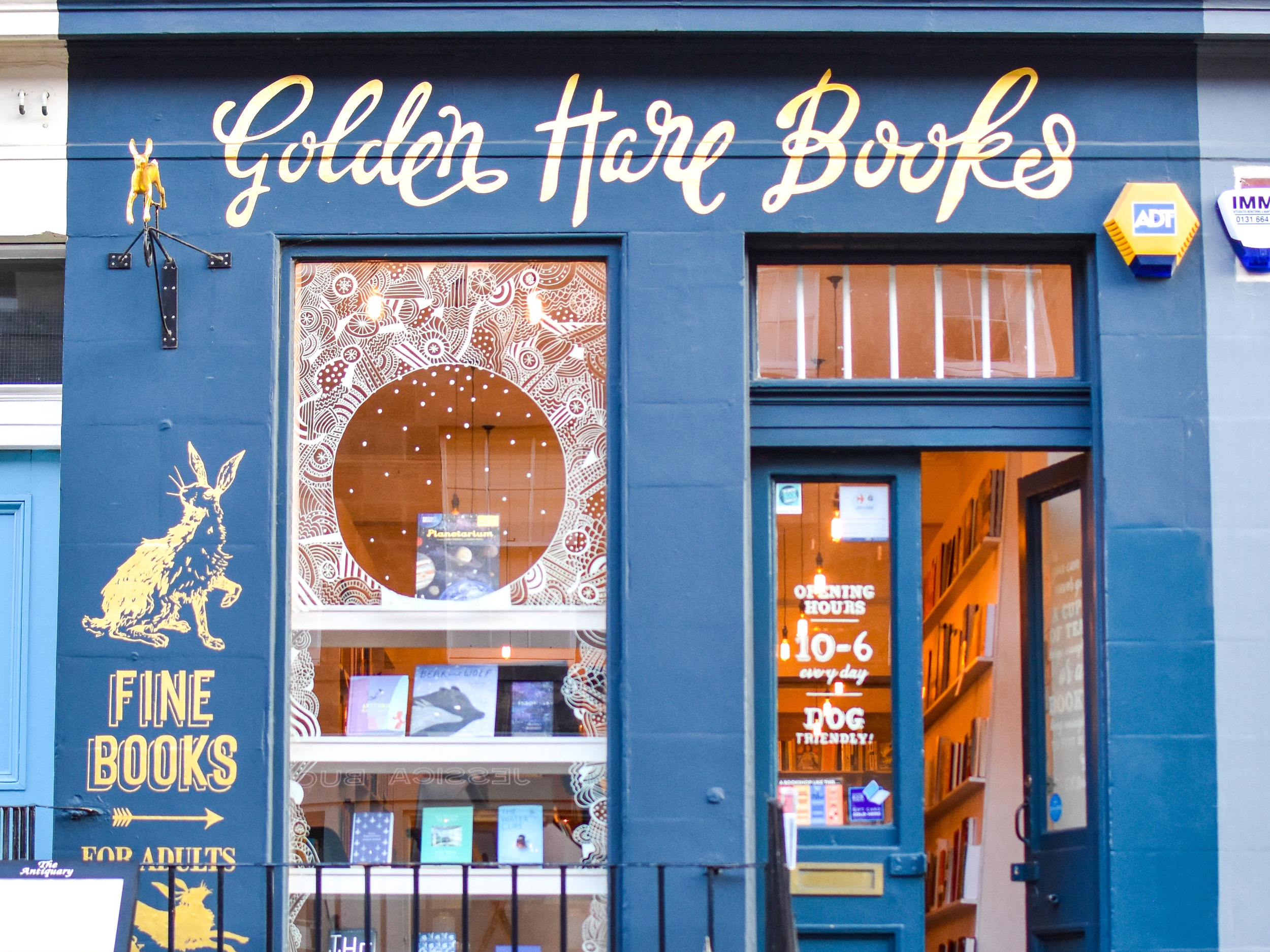 Golden Hare Books - Golden Hare Books is winner of the 2019 Independent Bookshop of the Year Award. Based in the leafy but vibrant area of Stockbridge, Golden Hare is known for its friendly and knowledgeable booksellers, busy events programme and thoughtful curation. Their inaugural Golden Hare Book Festival will take place 18-20th October 2019.Open 7 days10.00am-6.00pm