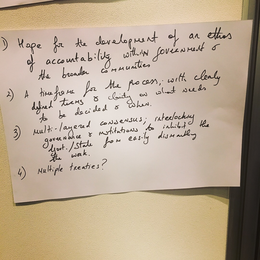 Some of the questions and ideas from our first #TalkingTreaty meeting with #BunurongLandCouncil