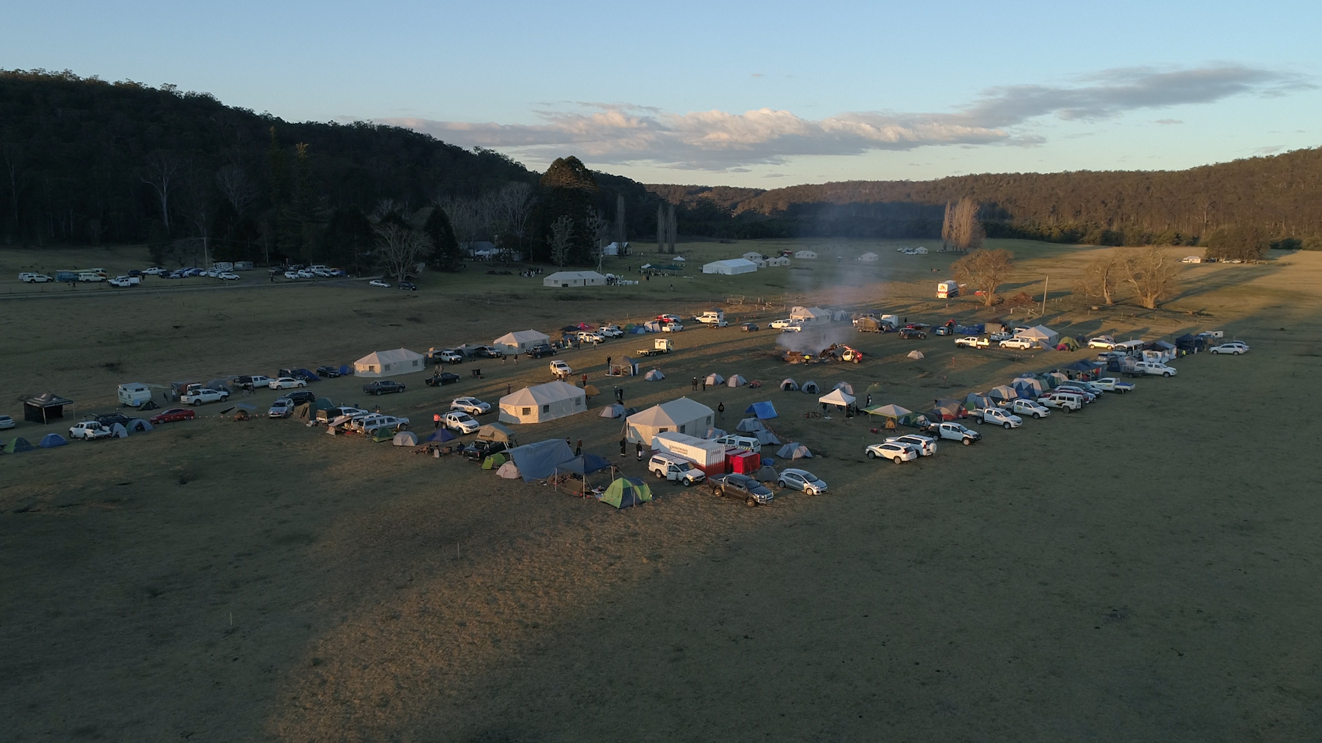 Drone shot of the campsite at Bundanon – venue for NIFW 2018.jpg