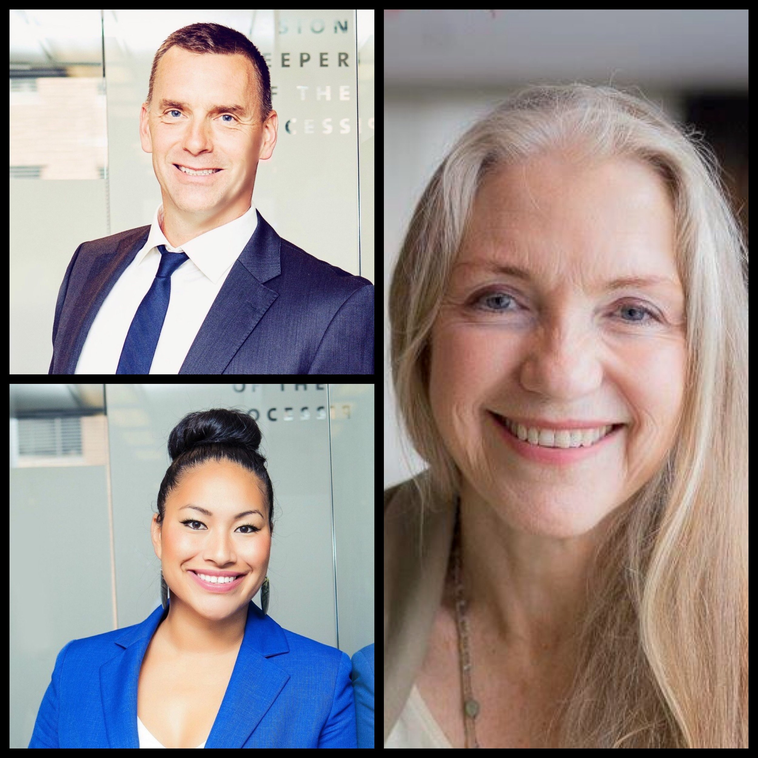 Pictured top left: Mark Smith - General Counsel for the British Columbia Treaty Commission. Pictured bottom left: Sashia Leung - Associate Director of Process at the British Columbia Treaty Commission. Pictured bottom right: Maori Land Court Judge Carrie Wainright.