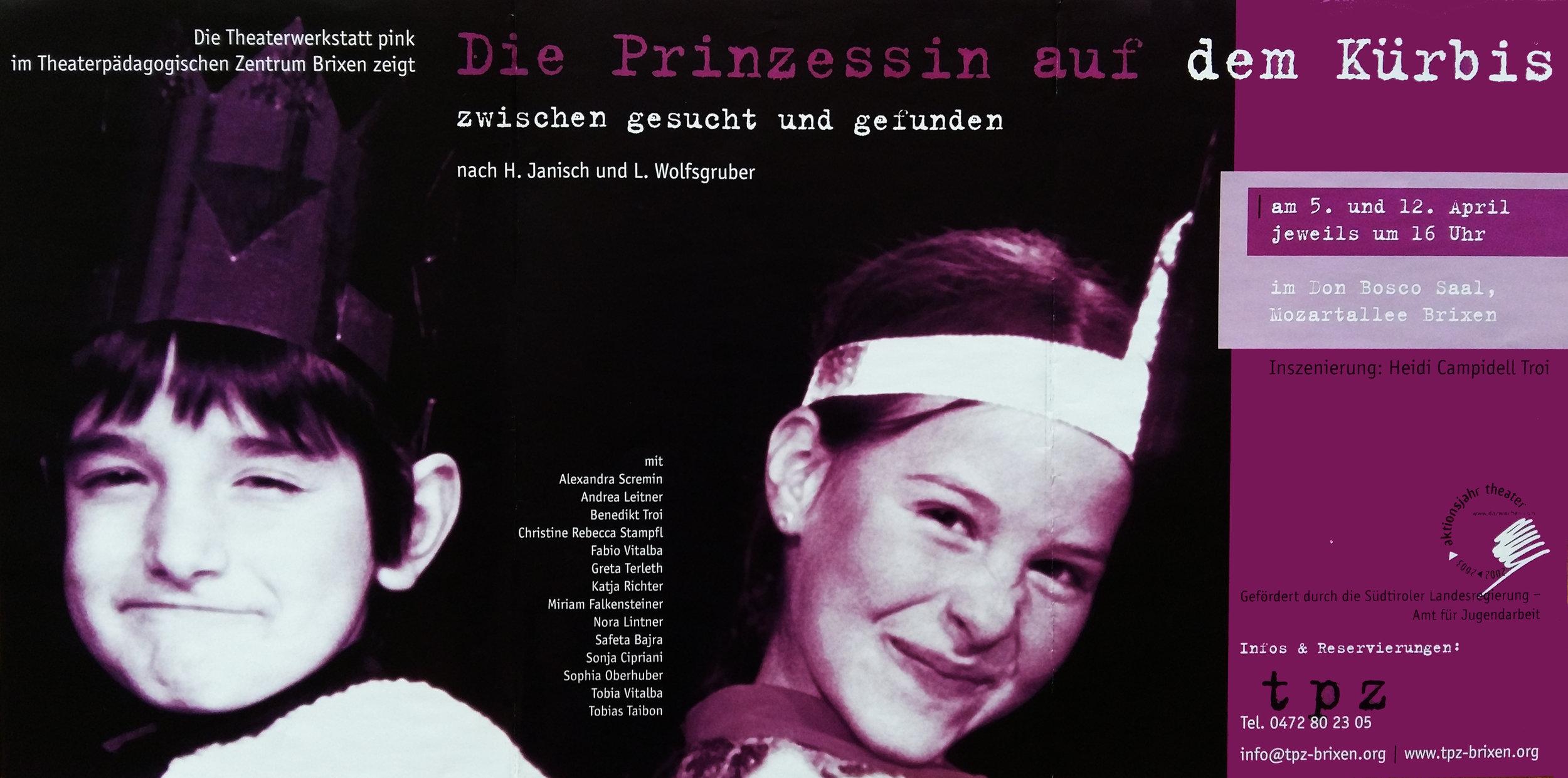 2003 pink Die Prinzessin auf dem Kuerbis Plakat.jpg