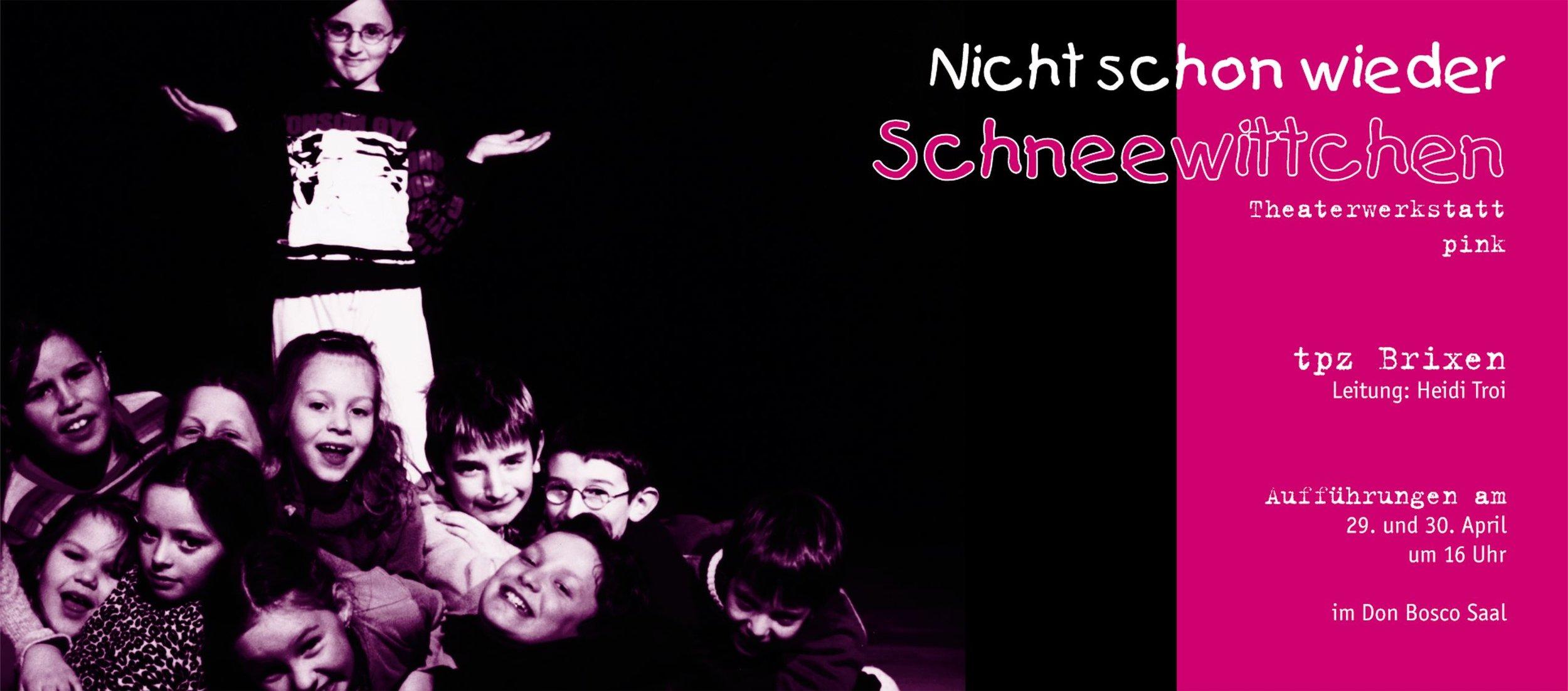 2005 pink Nicht schon wieder Schneewittchen Plakat.jpg